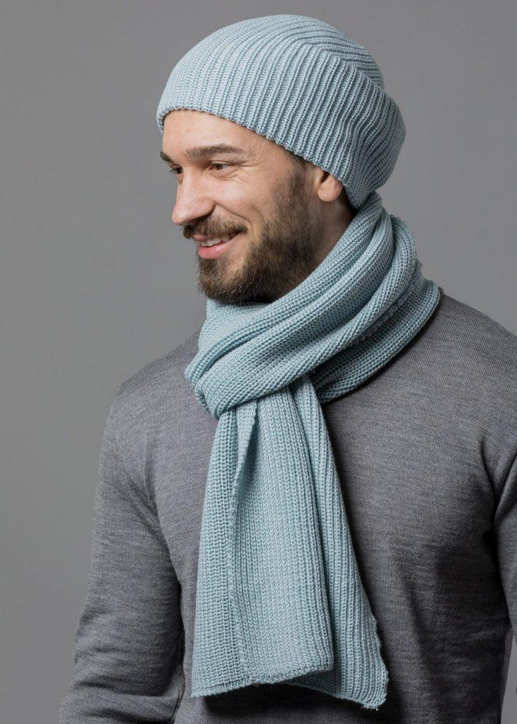 Mütze und Schal von Connemara in mint