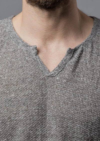 Leinen Pullover Louis V Ausschnitt