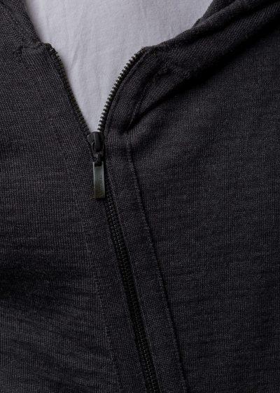 Strickjacke Kapuze Herren von Detail Schulter
