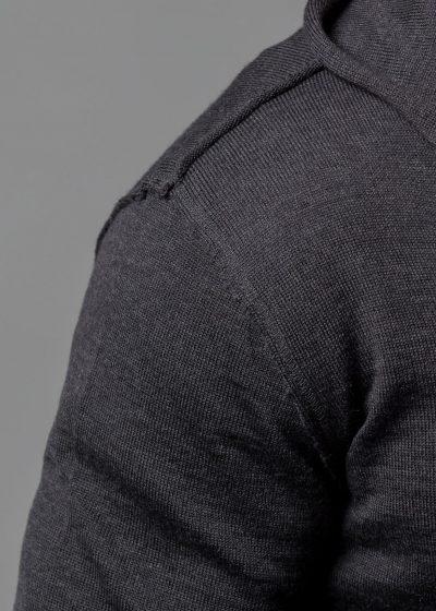 Connemara Strickjacke Kapuze Herren Detail Schulter