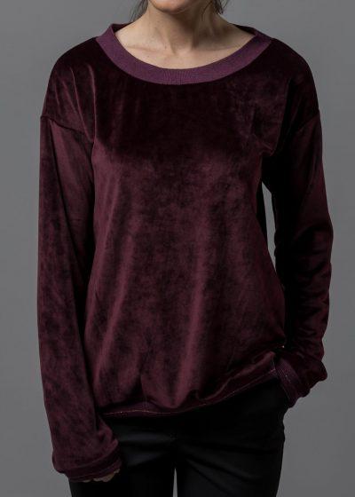 kuscheliges Sweatshirt aus Stretchsamt von Connemara