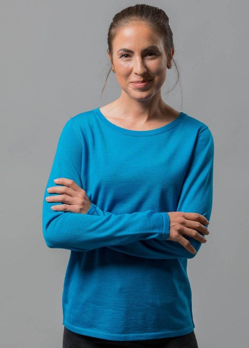 Leichter Sommerpullover Damen Susann Connemara aus Merino Superfein