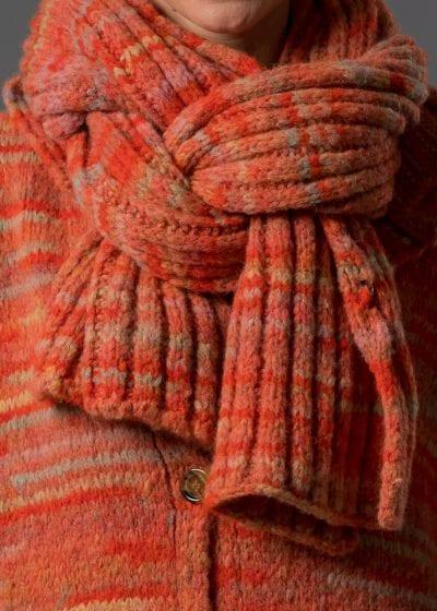 strickschal orange von Connemara