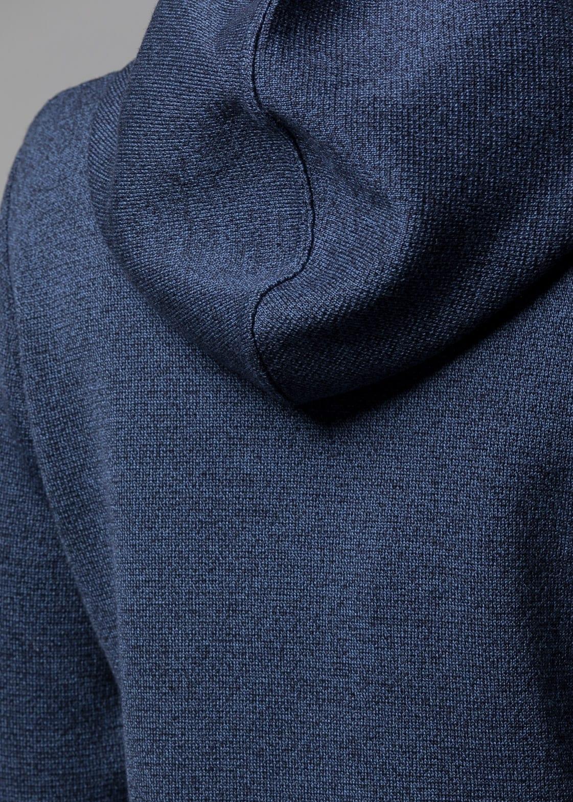 Kapuzenjacke Damen blau Bridget | Merinowolle von CONNEMARA