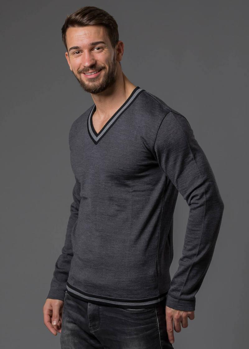 Merino Pullover Herren V Ausschnitt Connemara Tobias