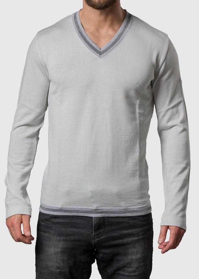 Cremefarbener Pullover Herren Tobias von Connemara