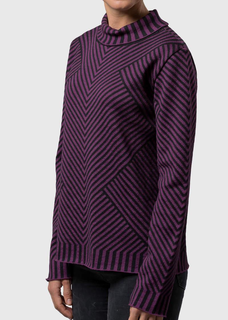Pullover mit Kragen Damen Briony von Connemara in Merinowolle extrafein